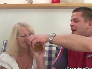 drinking leads to three-some fuckfest