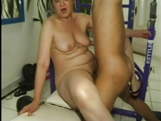 mature fucked in the gym