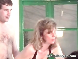 Amateur group sex with hot blonde part2