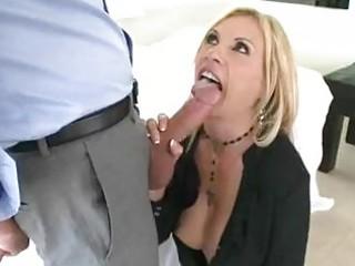 enormous chested blonde momma sticks huge shlong