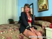 watch this bizarre hawt mature brunette