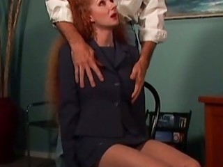 redhead mama abused by the neighbor