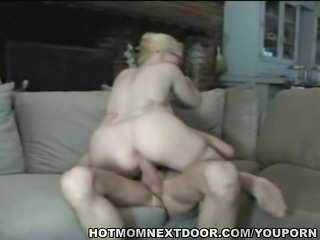 blond milf acquires young dong