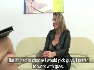 aged pornstar fucking on leather daybed