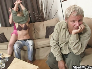 his mamma toying while dad fucking his gf
