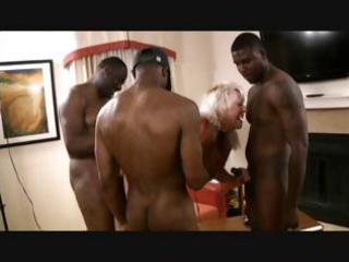 blond granny with large tits gets a bunch of