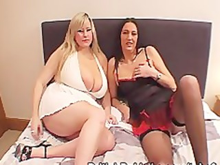 massive boobed woman and older take facual