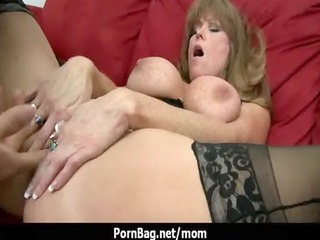 Big boob mommy gets a real cock 7