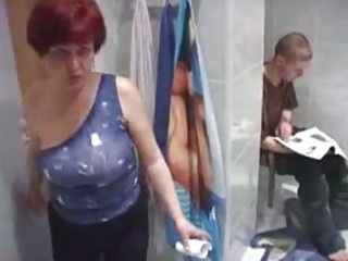 mom and boy having sex in toilet