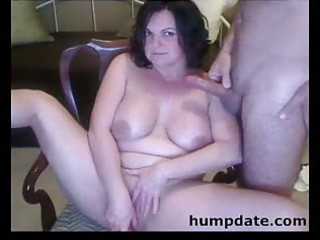 fur pie toying and cock sucking milf with large