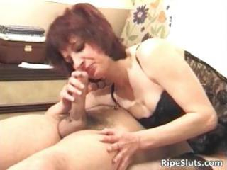 Horny redhead milf sucks fat cock part4