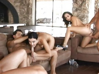 angelic busty wifes having great hardcore orgy