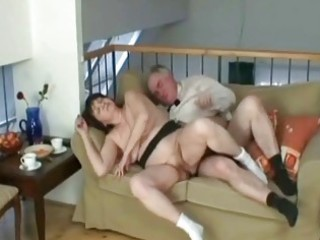 granny working a hard cock like a real champ