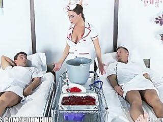 slutty nurse diamond foxx gives her patients