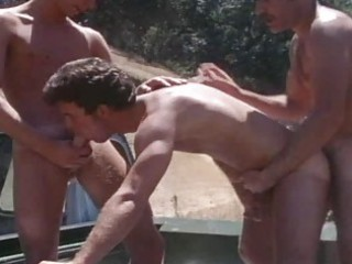 vintage mature chaps drilling outdoor