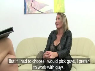 aged honey fucking on leather daybed
