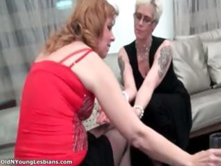 slutty aged blond lesbo woman part1