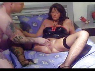 older german slut fist,bottle and foot fuck