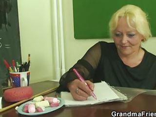 pupils gangbang lewd aged teacher