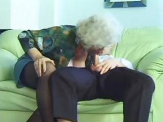 Horny milf granny norma with droopy boobs gets