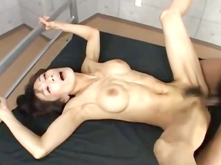 breasty oriental cutie acquires laid out and