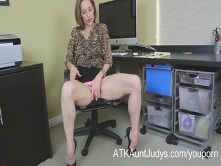 Skinny Milf Betty Blaze gets all naughty at the