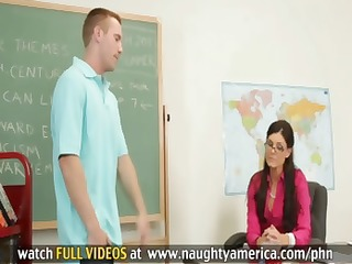 student gives this brunette hair teacher a reason