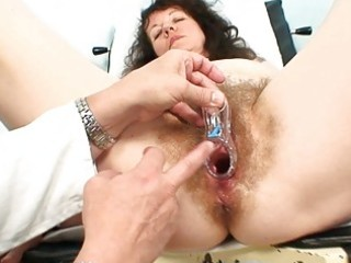 old aged floozy acquires her hirsute examined at