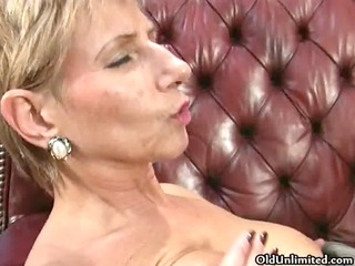 nasty aged lesbo goes mad getting