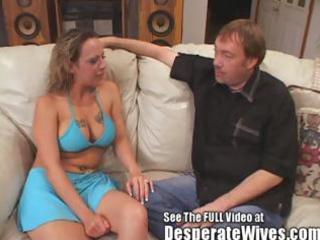 floozy wife donna eating sexy cum loads like a