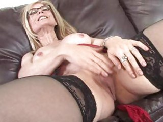 busty mother i finger vagina on the couch