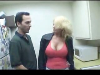 busty golden-haired chick meets this chap and