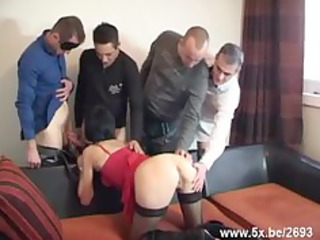 sophie group-fucked by few boys