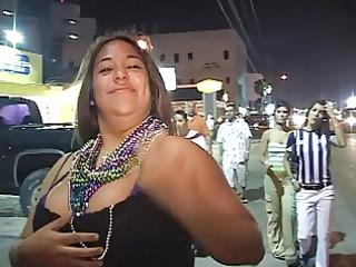 avid curvy latinas flash their milk shakes
