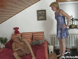 sexually excited boy screws his gfs mother