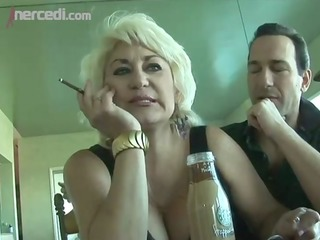 aged dana hayes swallows cum