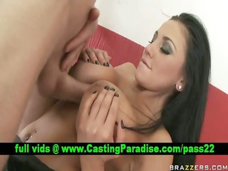 audrey bitoni brunette hair does titsjob and