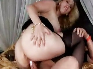 Busty milf in stockings craves some hardcore