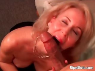 excited aged blonde receives wet shaggy cum-hole