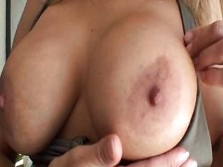 Sexy ass milf in bikini with massive hooters gets