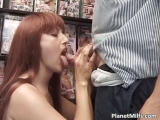 lustful red head bitch enjoys in public part5