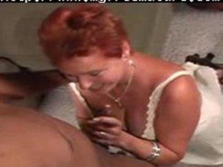 redhead mommy vs black stud older aged porn