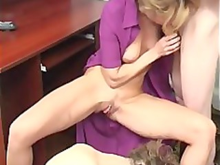 home russian older mother with guys