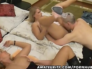amateur groupsex with 2 honeys and 0 dicks