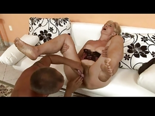 unshaved blonde granny is a bitch by troc