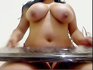 big beautiful woman masturbates on web camera
