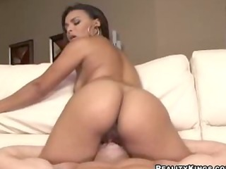 flawless latina rides his cock the way he is