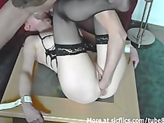 non-professional housewife fist fucked in slavery