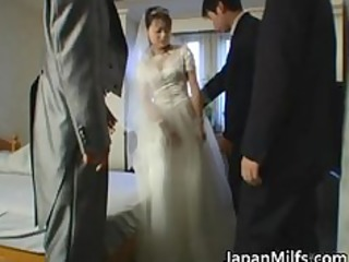 Asian bride gets hardcore group fucking part2