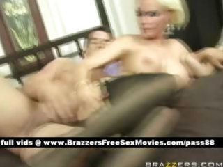 older breasty blonde wife in couch